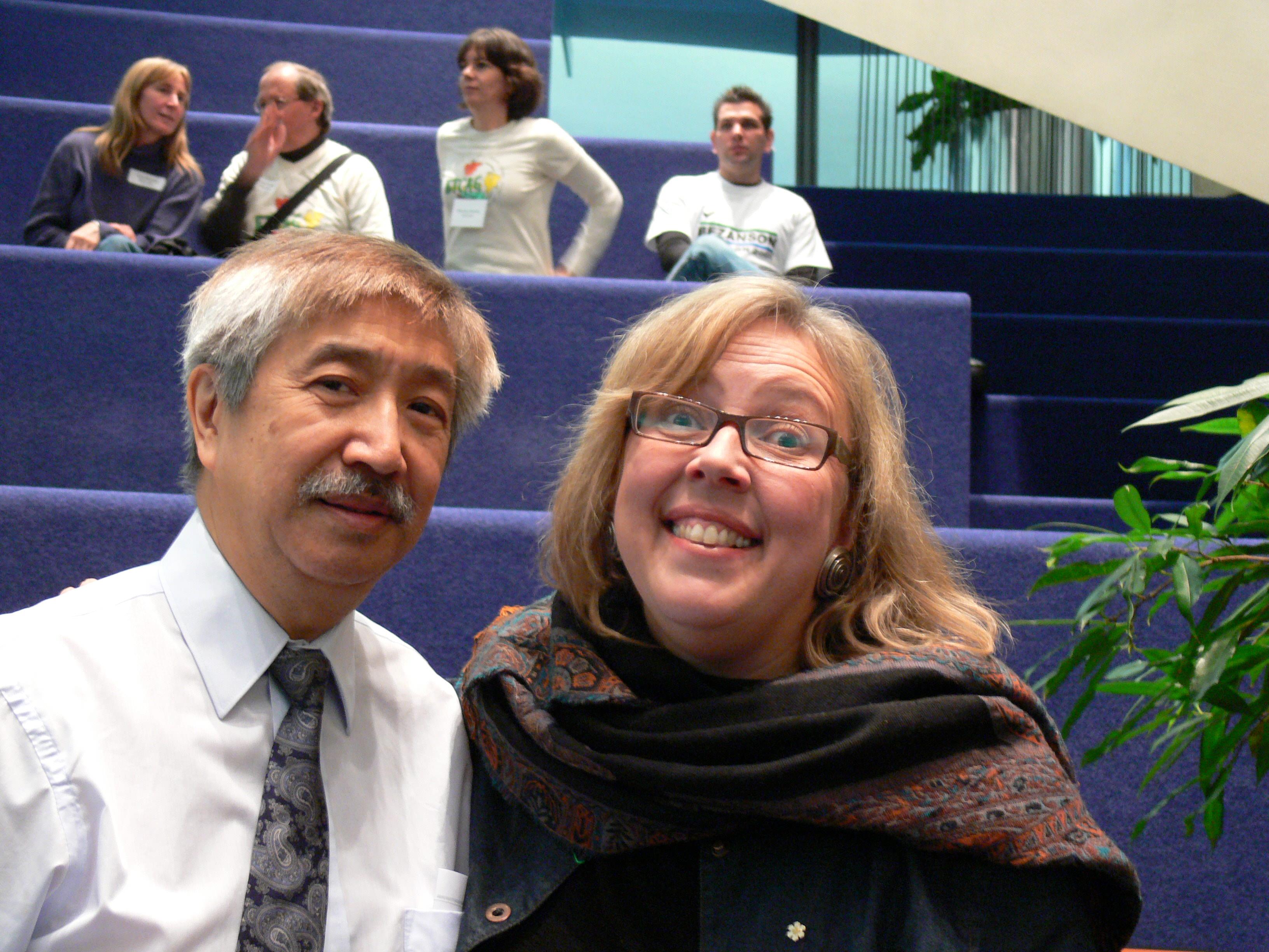 Elizabeth May and Ed Chin