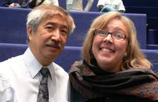 Elizabeth May and Ed Chin