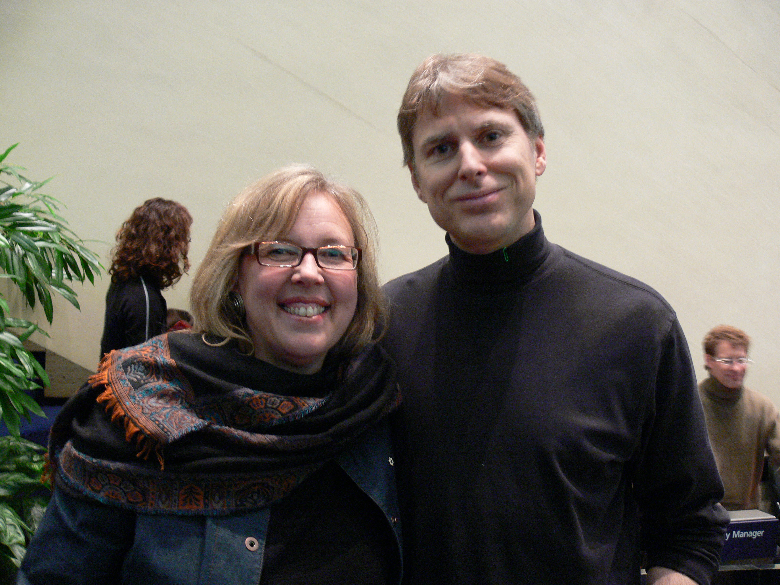 Elizabeth May and Andrew James