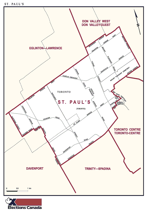 Map of St Paul's riding