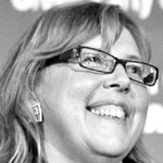 Elizabeth May's smiling face