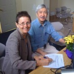 Sharon Howarth and Ed Chin signing candidate registration papers