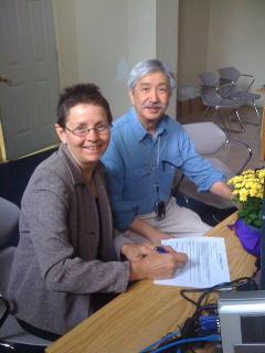 Sharon Howarth and Ed Chin