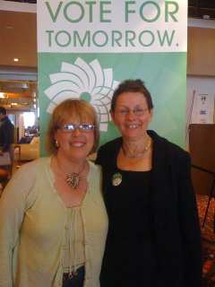 Elizabeth May and Sharon Howarth