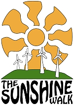 The logo for the Sunshine Walk for Climate Justice