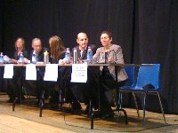 An empty chair for Jack Layton at the all-candidates debate
