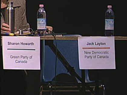 Jack Layton's empty seat at all-candidates debate