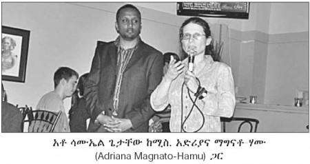 Toronto-Danforth candidate Adriana Mugnatto-Hamu at Wanza Ethiopian restaurant