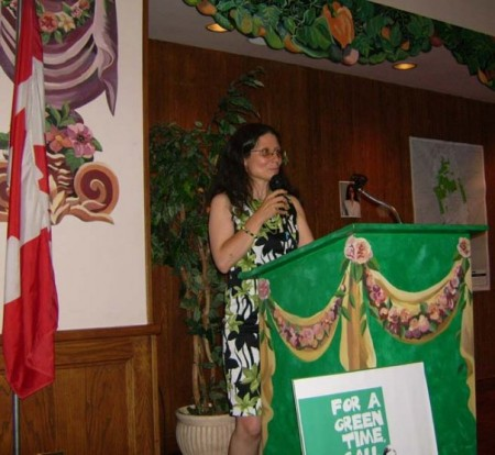 Adriana hosting Four Strong Green Women