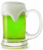 Green beer for pub night
