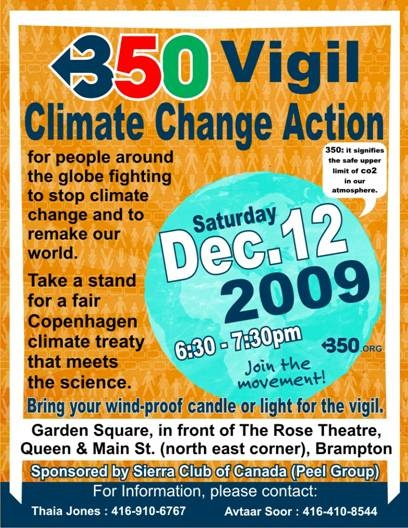 Brampton candlelight vigil for climate change action
