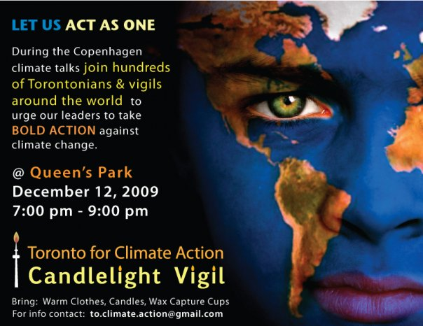 Toronto for Climate Action - Candlelight Vigil