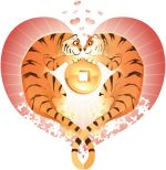 Valentine's Day, Year of the Tiger image courtesy of Charlene Chua Illustration.