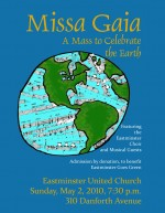 A mass to celebrate the earth at Eastminster United Church