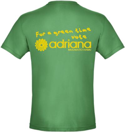 For a green time, vote Adriana Mugnatto-Hamu