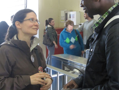 Adriana Mugnatto-Hamu in TTC station