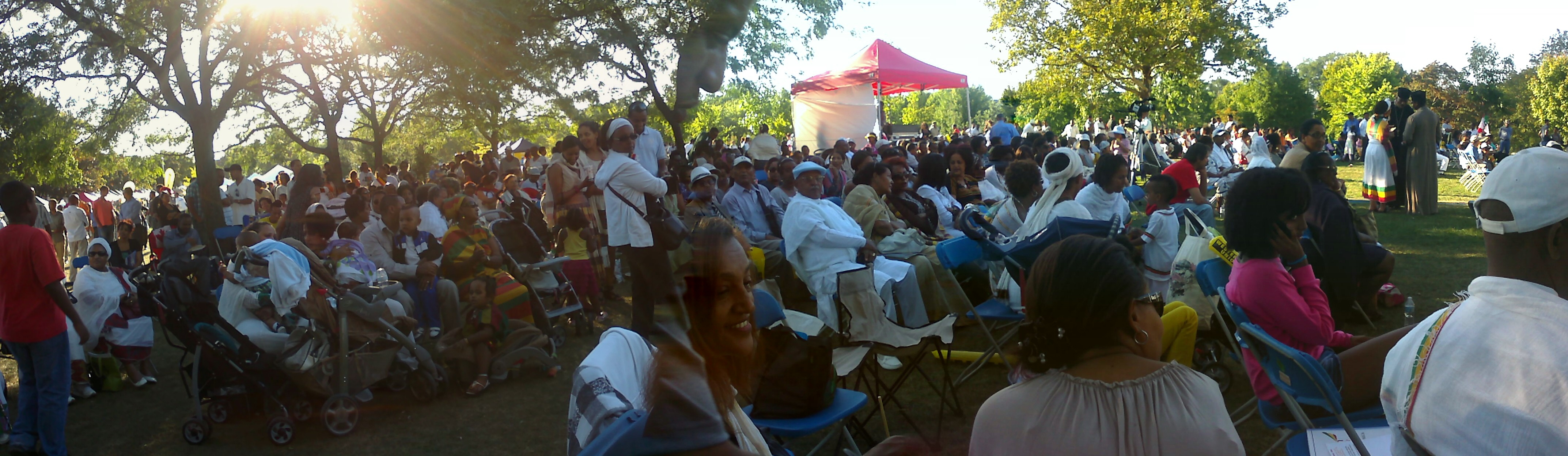 2011 Ethiopian New Year's crowd at Christie Pits Park