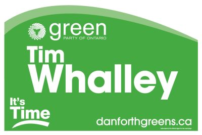 Toronto-Danforth candidate's large lawn sign