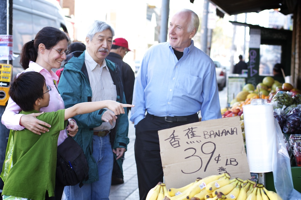 By-election candidate Adriana Mugnatto-Hamu Chinatown bananas