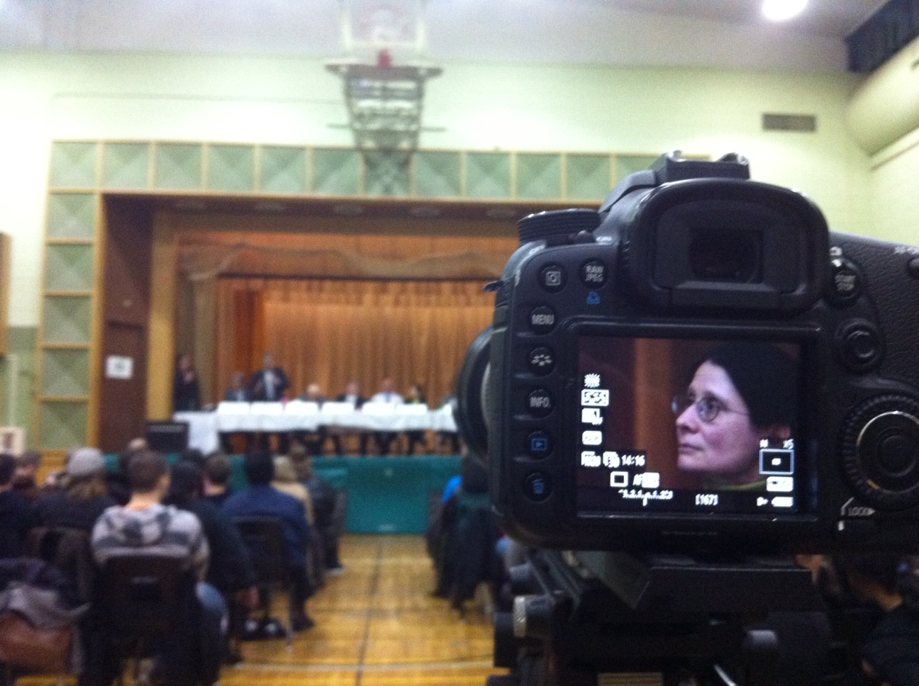 Adriana Mugnatto-Hamu at Applegrove by-election candidates meeting