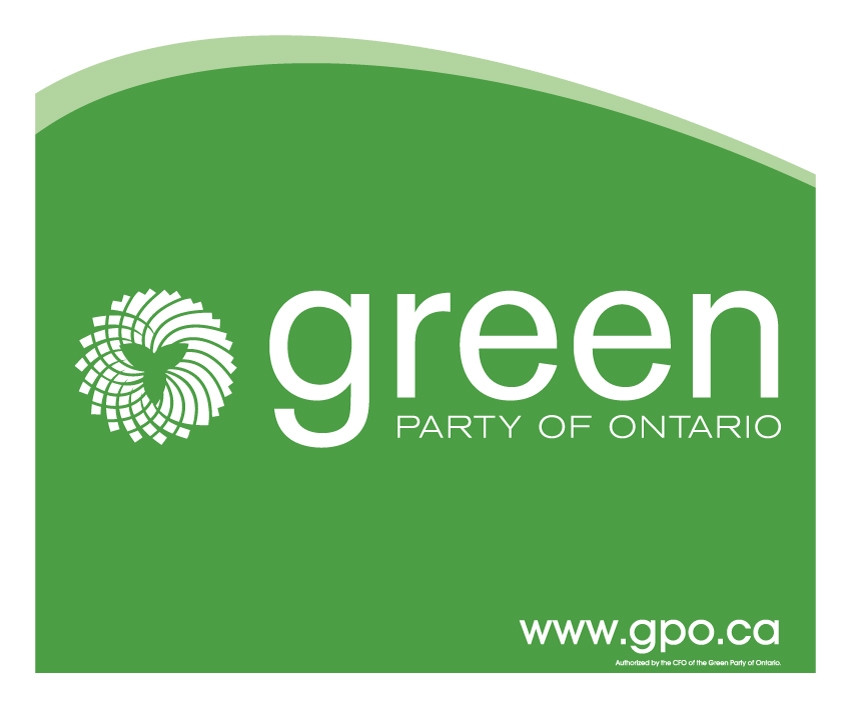 Green Party of Ontario lawn sign