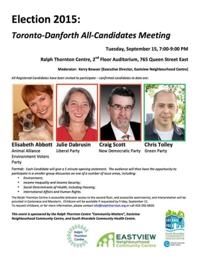 Click to expand all-candidates debate poster image