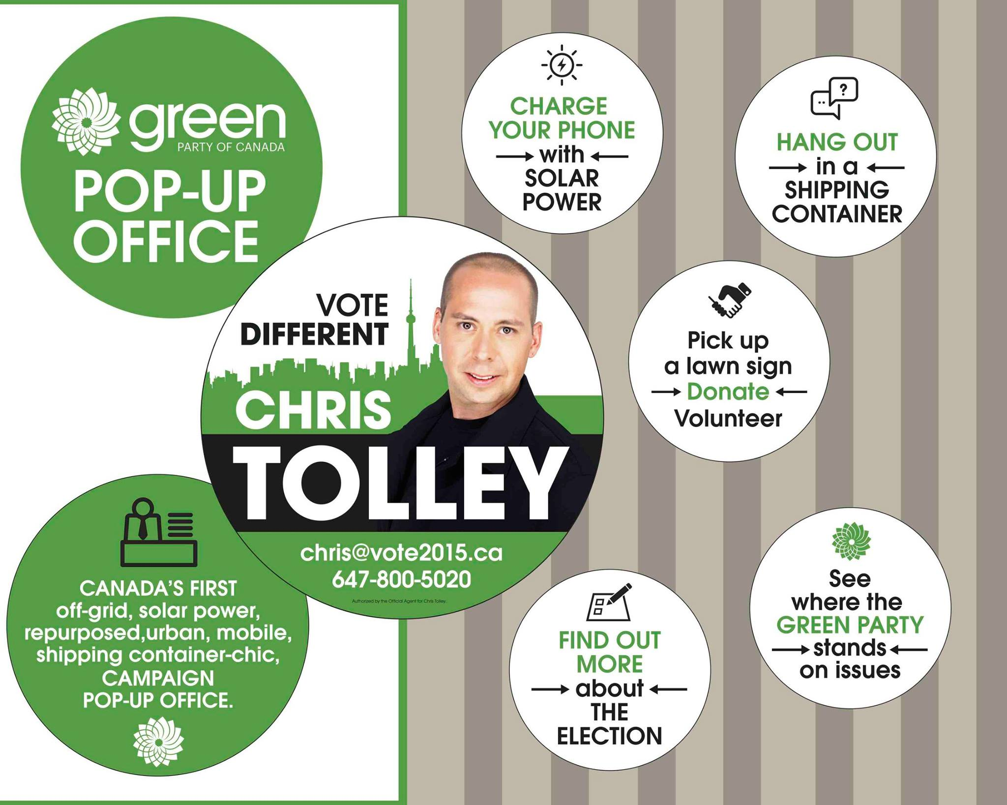 Chris Tolley pop-up office
